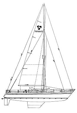 Tayana 55 drawing on sailboatdata.com