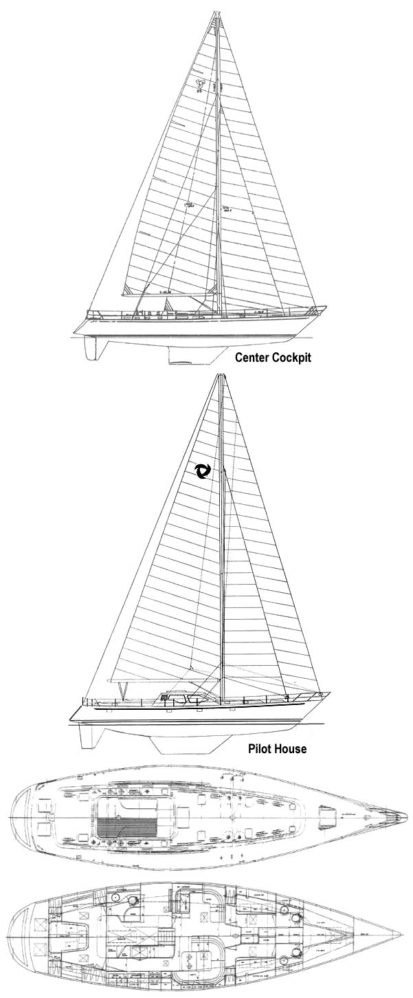Tayana 65 drawing on sailboatdata.com