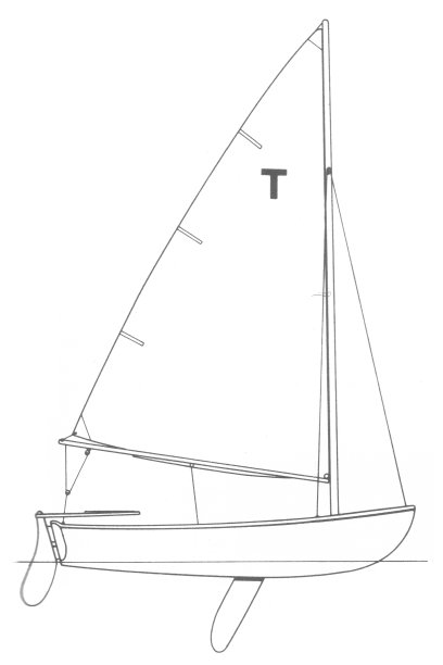 Tech Dinghy drawing on sailboatdata.com