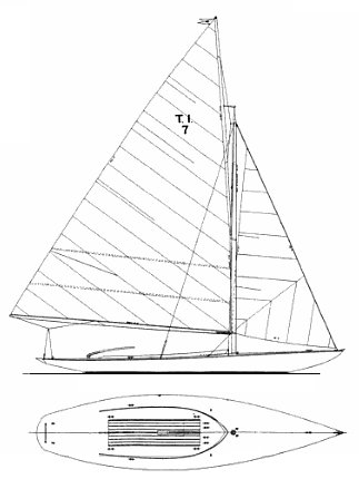 THOUSAND ISLANDS YC ONE-DESIGN drawing