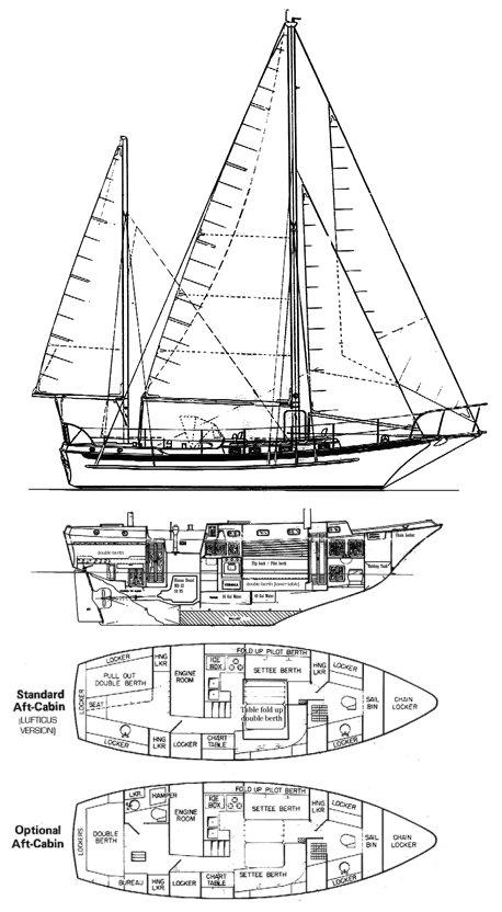TIBURON 36 drawing