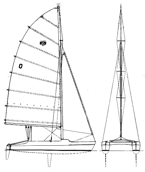 Tiger Cat drawing on sailboatdata.com