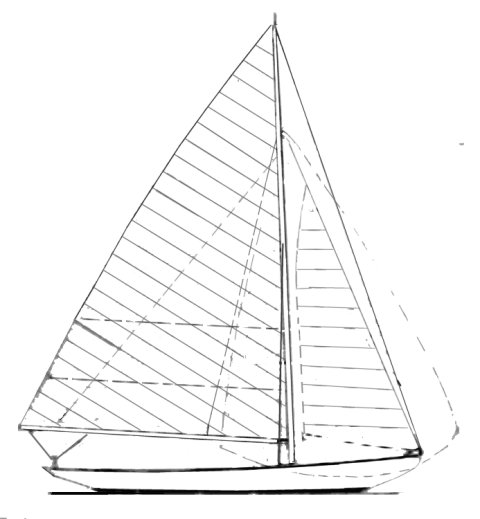Timber Point One Design drawing on sailboatdata.com