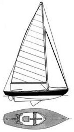 Tofinou 23 drawing on sailboatdata.com