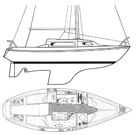 tomahawk 25 drawing on sailboatdata.com