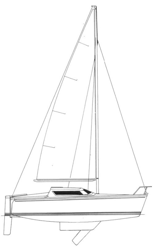 TONIC 24 CB (JEANNEAU) drawing