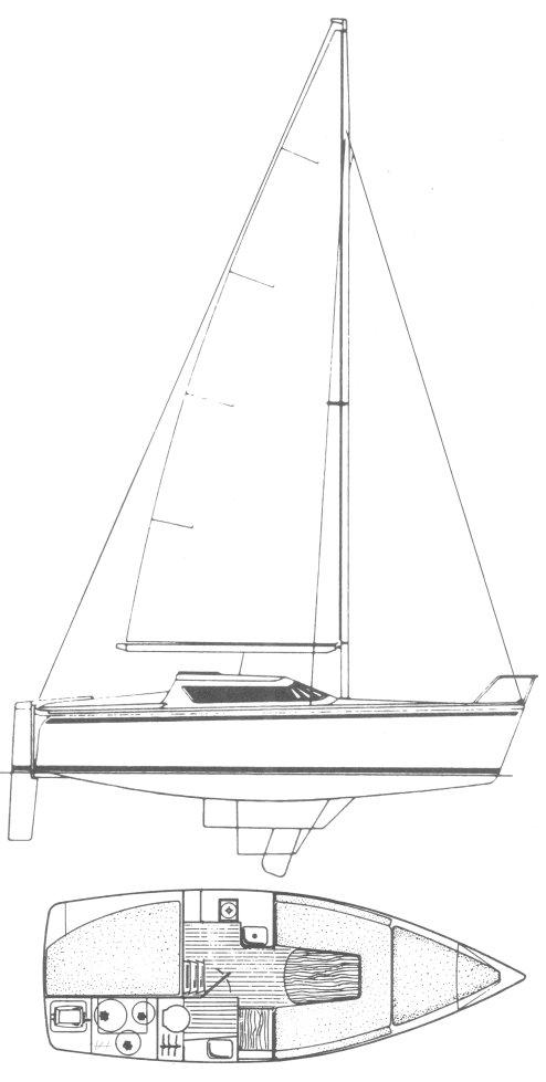 TONIC 24 (JEANNEAU) drawing