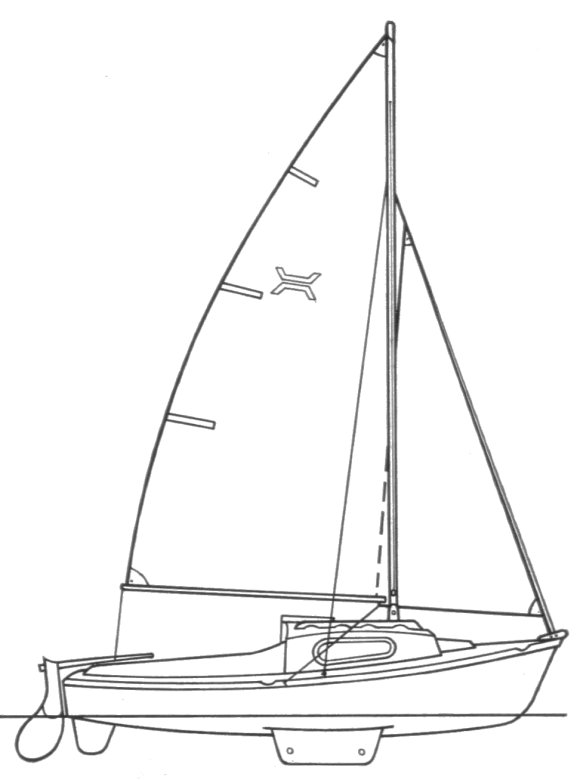 Topaz (Newbridge) drawing on sailboatdata.com