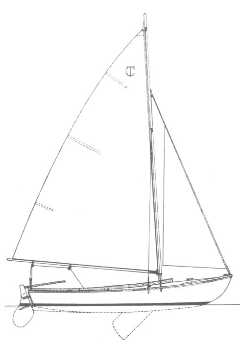 Town class drawing on sailboatdata.com