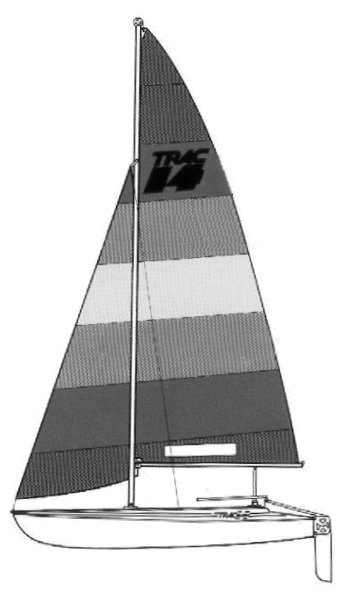 Trac 14 Catamaran drawing on sailboatdata.com