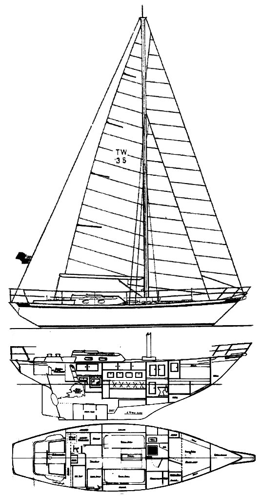 TRADEWIND 35 drawing