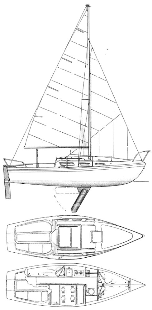 Tradewinds 26 (Luger) drawing on sailboatdata.com