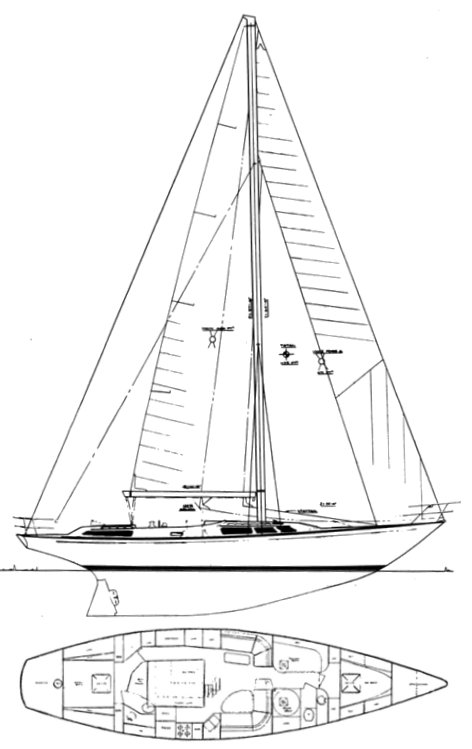 Tradewinds 55 drawing on sailboatdata.com
