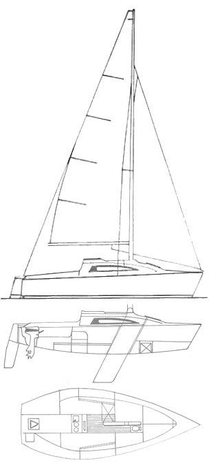 PARKER 21 (TRAILER SAILER 21) drawing