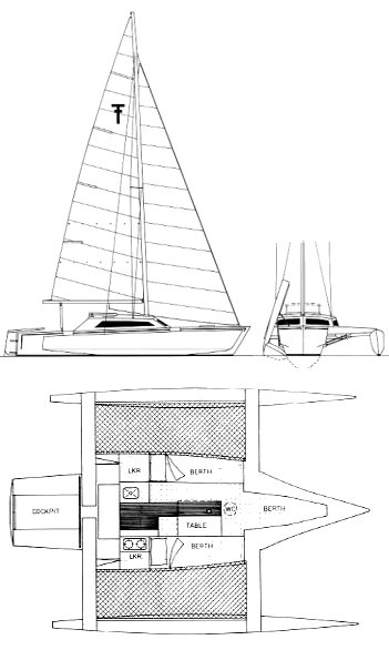 Trailertri 720 drawing on sailboatdata.com
