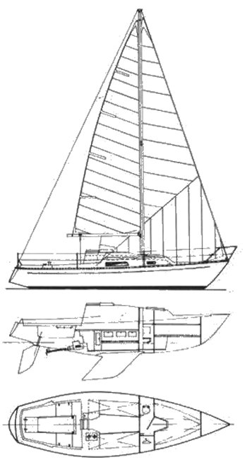 Trapper 400 drawing on sailboatdata.com