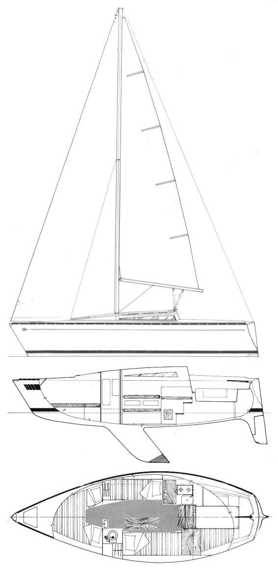 Trident 80 drawing on sailboatdata.com