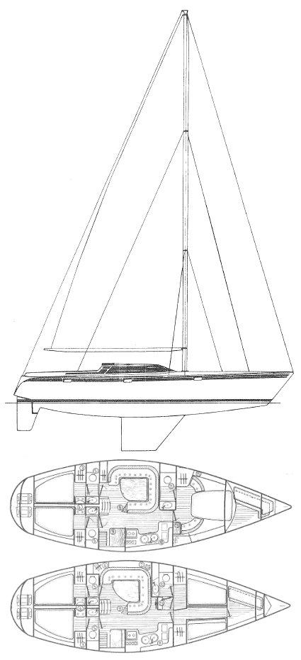 TRINIDAD 48 (JEANNEAU) drawing