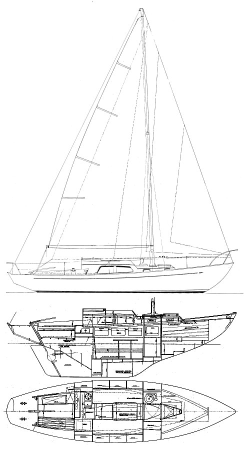 Trintell 1A drawing on sailboatdata.com