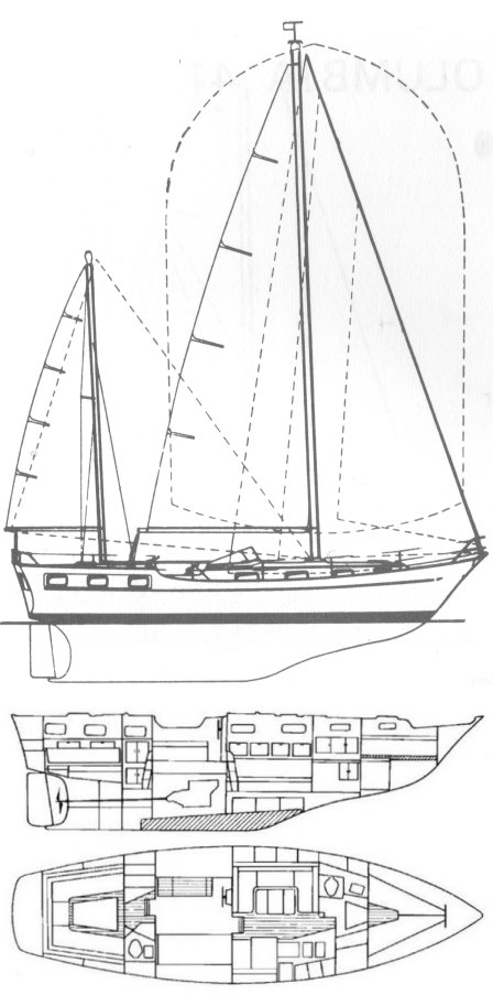 Trintella IV drawing on sailboatdata.com
