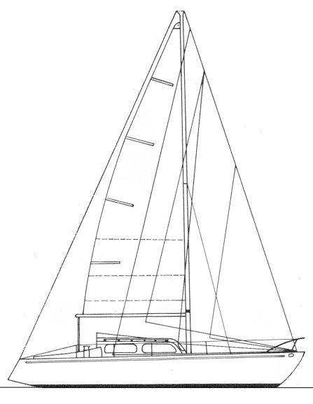 Triskel drawing on sailboatdata.com
