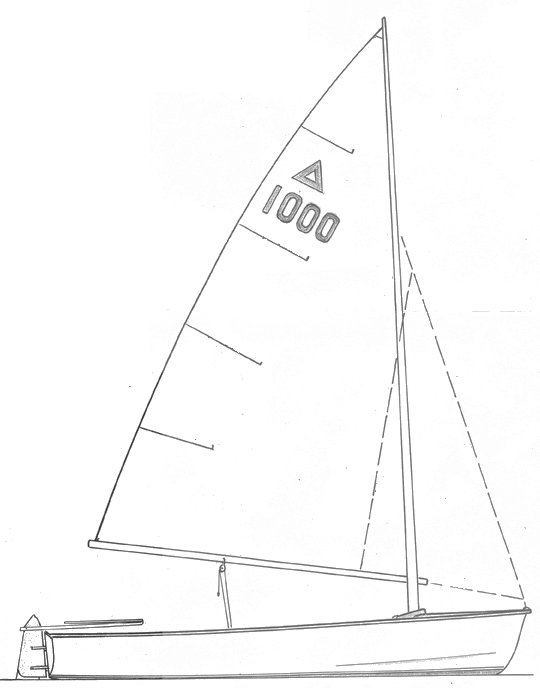 Triss Dinghy drawing on sailboatdata.com