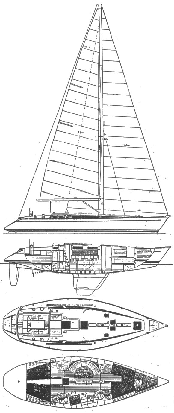 Triton 48 drawing on sailboatdata.com