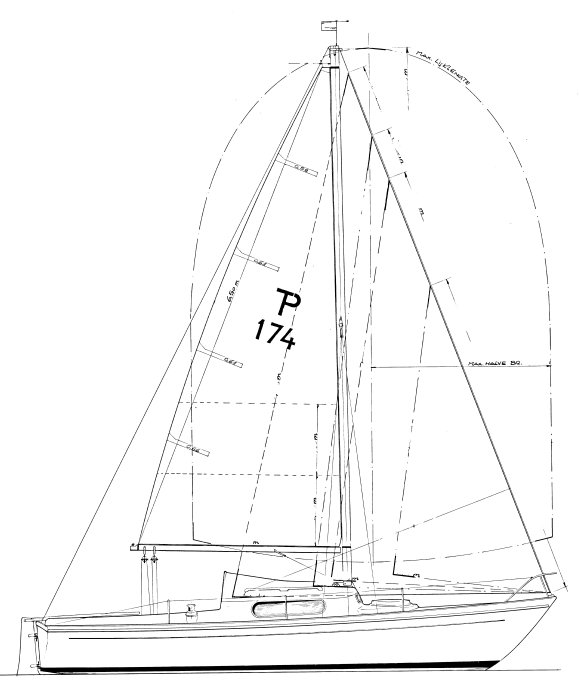 Trotter Pandora drawing on sailboatdata.com