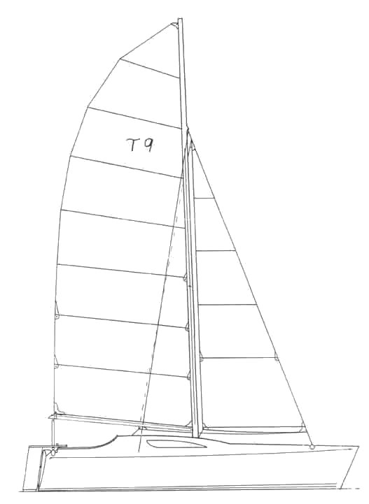 Turissimo 9 drawing on sailboatdata.com