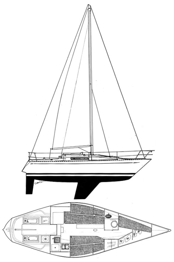 UFO 31 drawing on sailboatdata.com