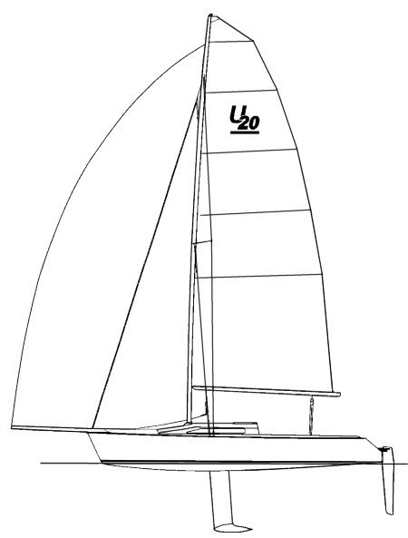 Ultimate 20 drawing on sailboatdata.com