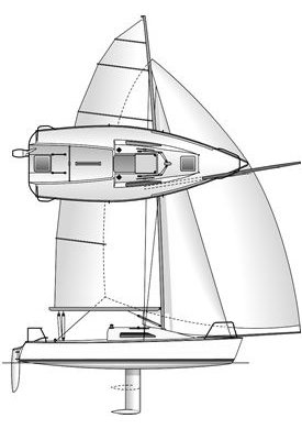 Ultimate 24 drawing on sailboatdata.com