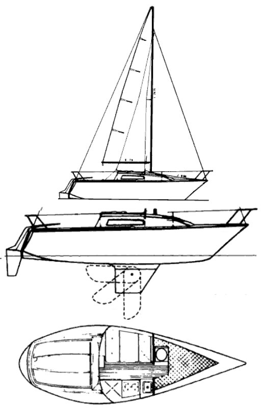 US 22 drawing on sailboatdata.com
