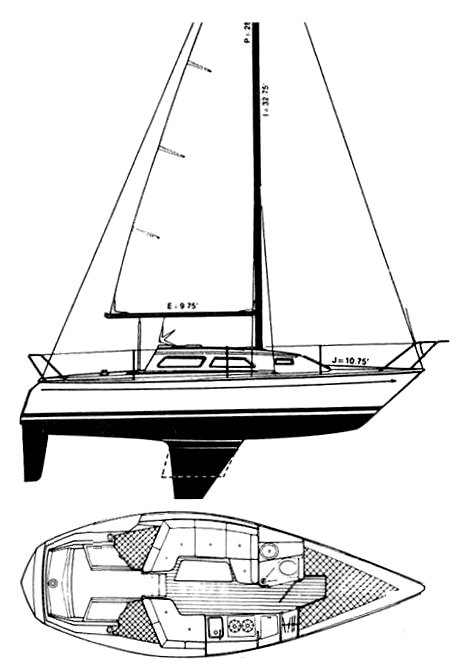 US 27-1 drawing on sailboatdata.com