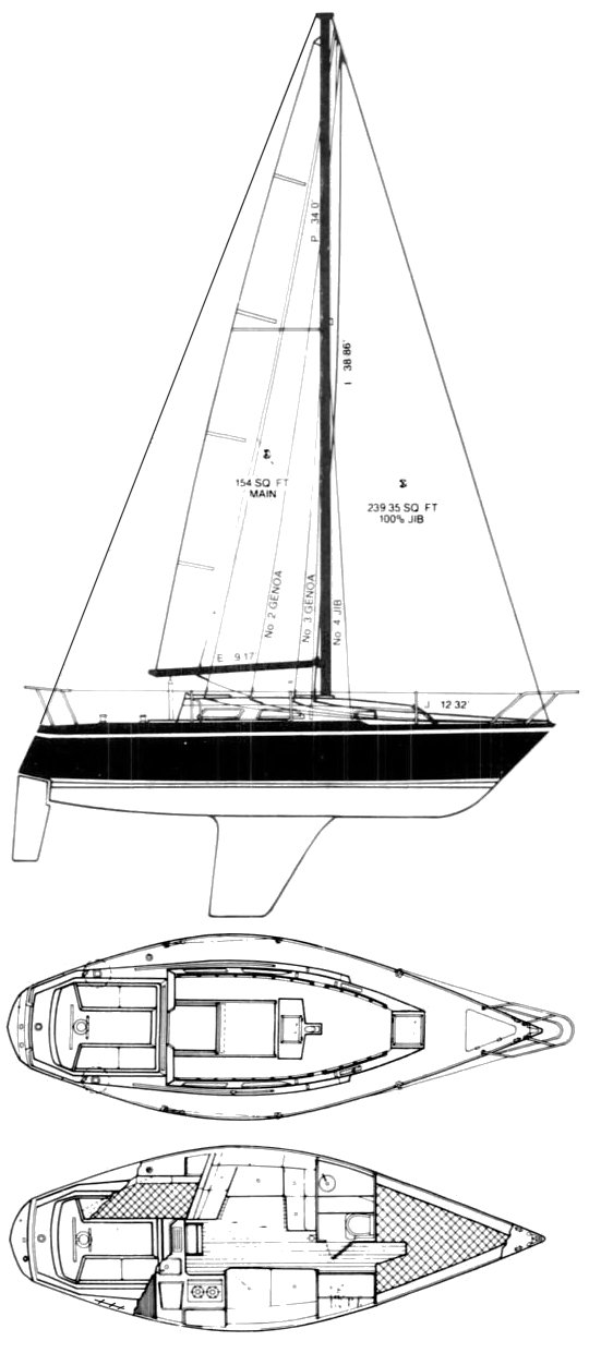 US 30 drawing on sailboatdata.com