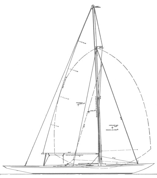 US One-Design drawing on sailboatdata.com