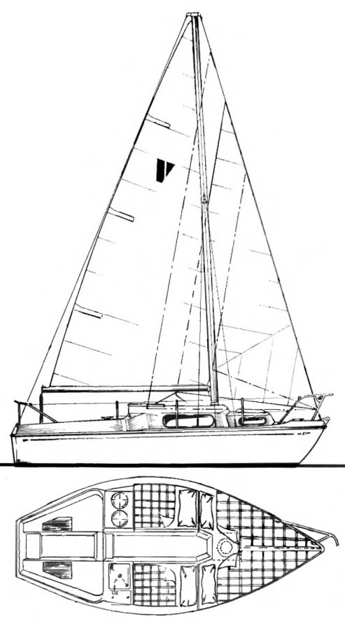 Valiant 18 drawing on sailboatdata.com
