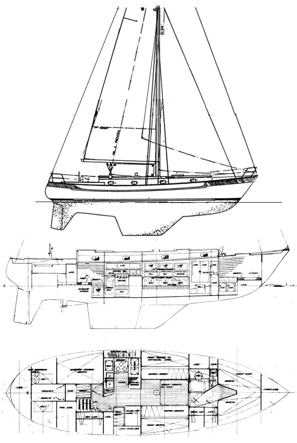 Valiant 40-1 (200-235) drawing)  on sailboatdata.com