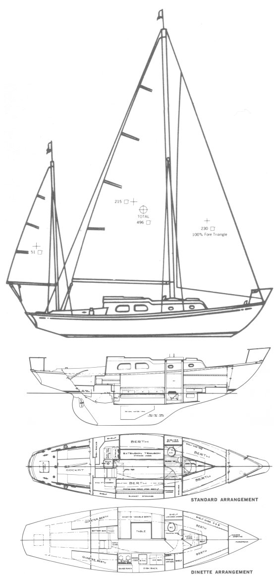 VANGUARD 33 (PEARSON) drawing