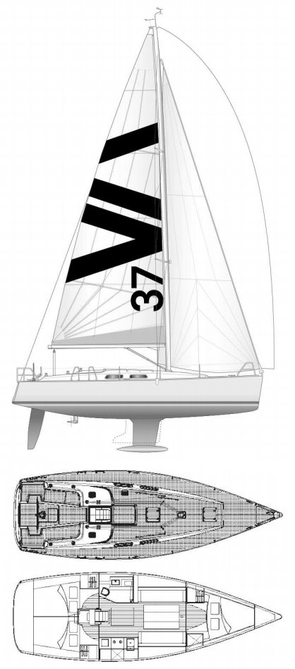 Sailboatdata Com Varianta 37 Sailboat
