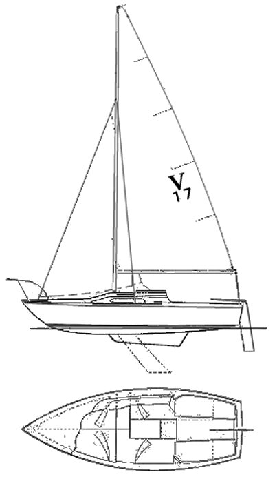 Venture 17 drawing on sailboatdata.com