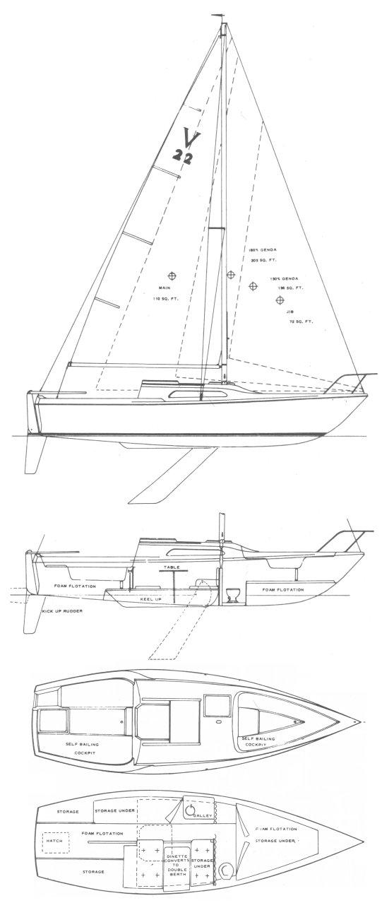 VENTURE 22 drawing
