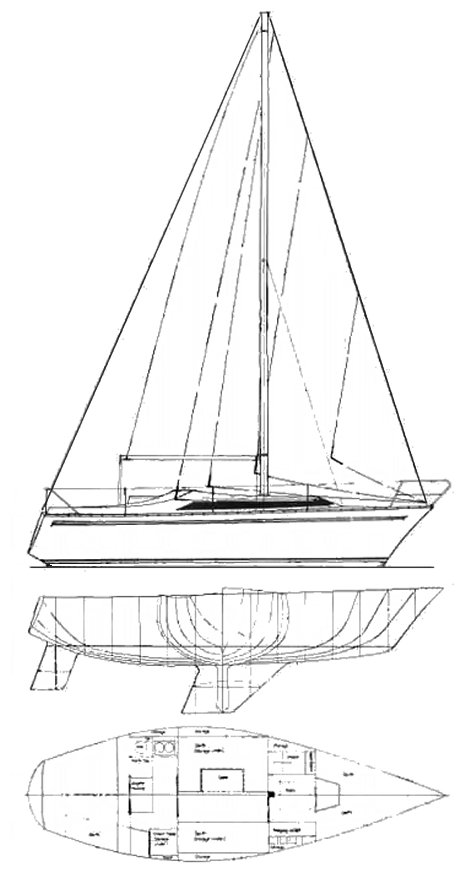 Verl 900 drawing on sailboatdata.com