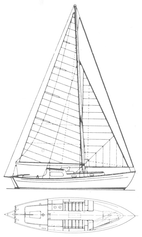 Vertue 25 drawing on sailboatdata.com