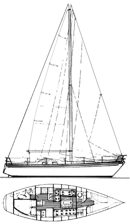 Victoire 1044 drawing on sailboatdata.com