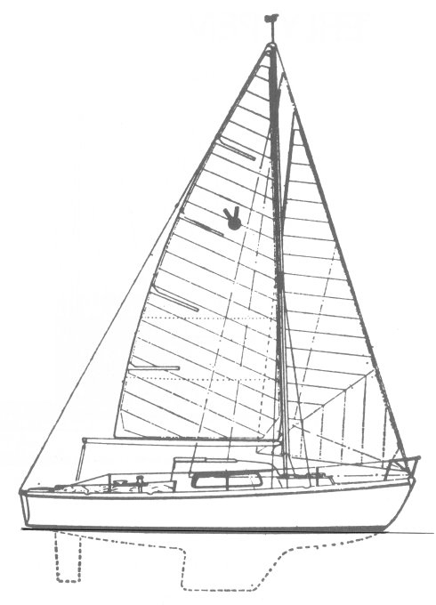 Victoire 22 drawing on sailboatdata.com