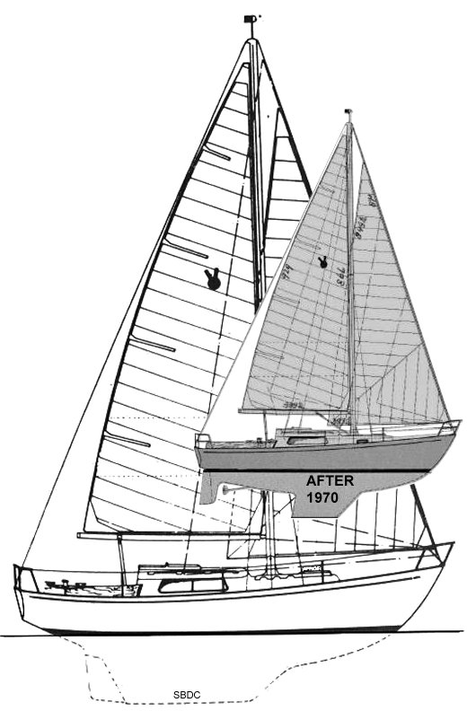 Victoire 28 drawing on sailboatdata.com