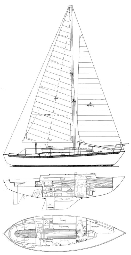 VINEYARD VIXEN 34 drawing