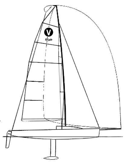 Viper 830 drawing on sailboatdata.com