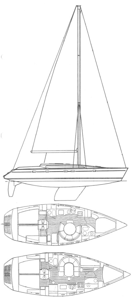 Voyage 12.5 drawing on sailboatdata.com